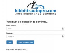hibbittsautopro.com login page