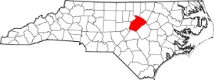 Wake County North Carolina map.
