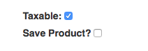 The taxable selection field within the add line item modal.