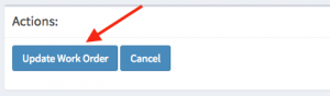 Location of the update work order button.