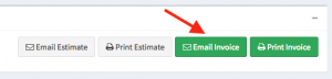 "Location of the ""Email Invoice"" button within the Actions panel."